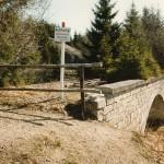 Brücke an der Grenz zur DDR im Sommer